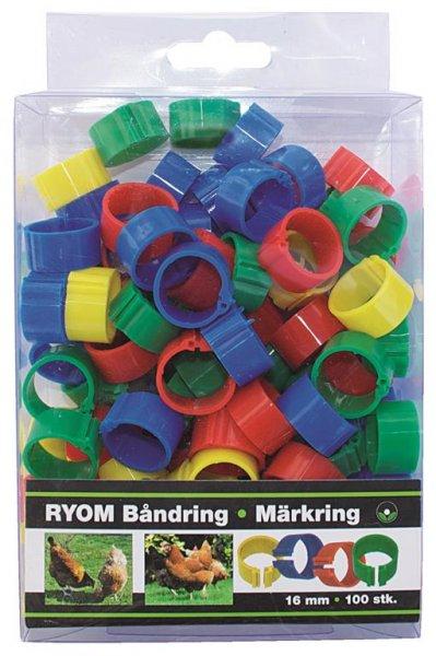Ryom Bandringe Kunststoff verschiedene Farben 16 mm, 100 St.