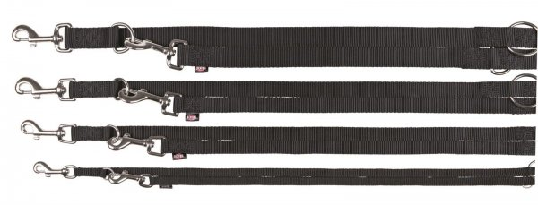 Trixie Premium V-Leine, Größe M-L, 2,00 m, 20 mm, schwarz