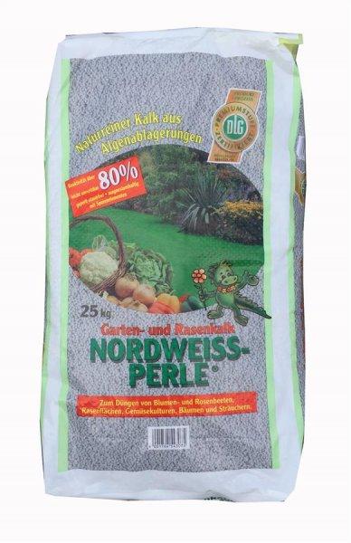 Nordweiss-Perle Garten- und Rasenkalk, 25 kg