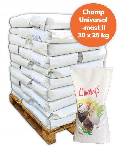 Palette Champ Geflügel Universalfutter II ab 3. Lebenswoche 750kg, 30x 25 kg