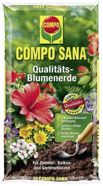 Compo Sana Qualitäts-Blumenerde, 10 l