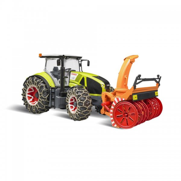 Bruder Claas Traktor Axion 950 mit Schneeketten