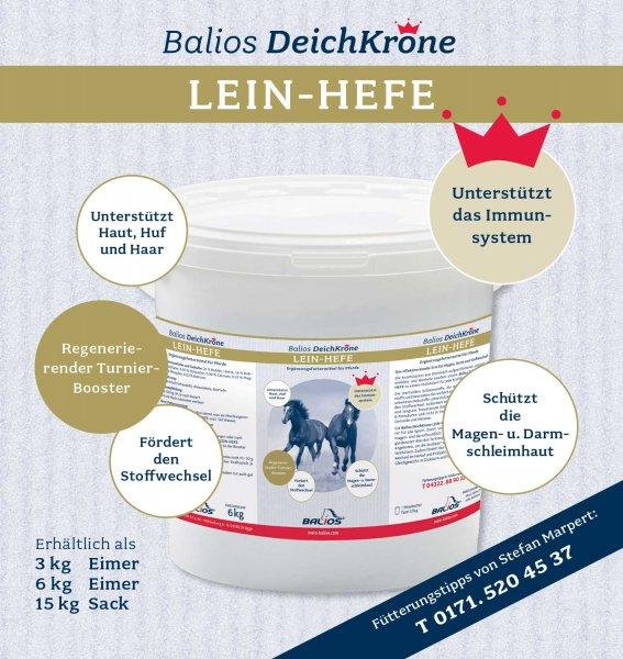 Balios Best Lein-Hefe für Pferde, 3 kg