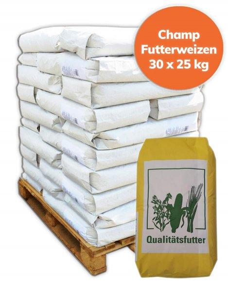 Palette Futterweizen 750 kg, 30x 25 kg