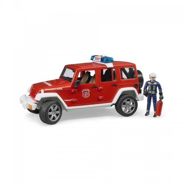 Bruder Jeep Wrangler Unlimited Rubicon Feuerwehr Einsatzfahrzeug & Feuerwehmann