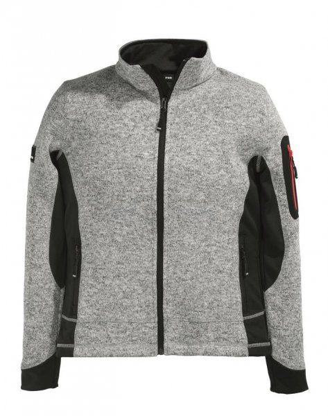 FHB Strick-Fleece Marieke, grau-schwarz