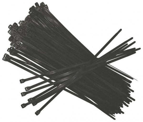 Ryom Kabelbinder im 100er Pack, 0,36 x 2,00 cm
