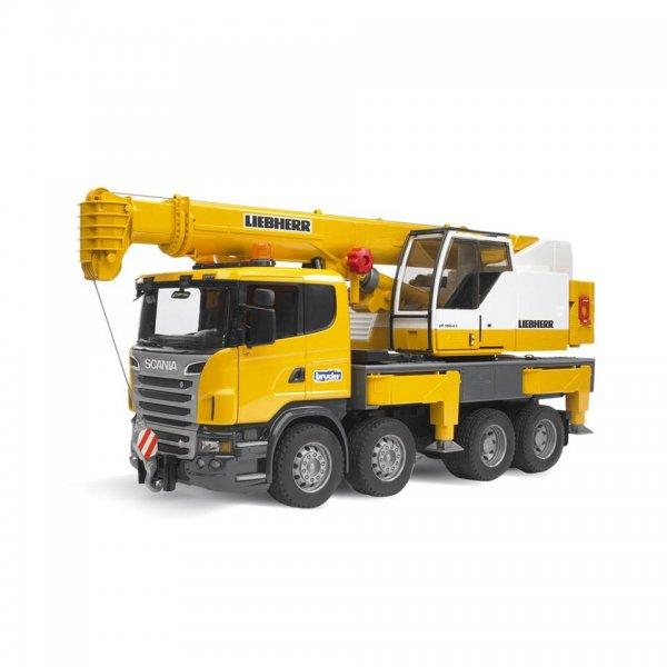 Bruder Scania R-Serie Liebherr Kran-LKW