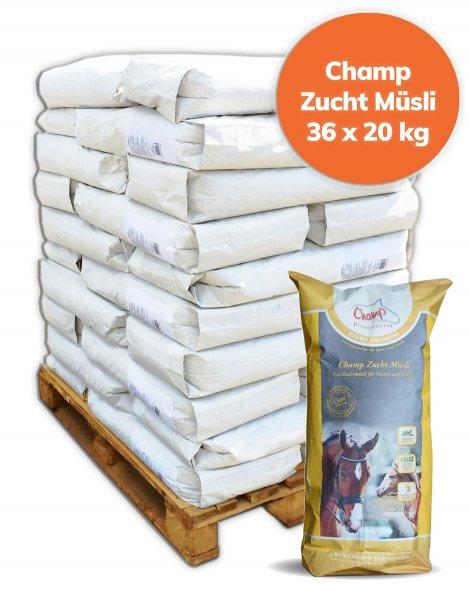 Palette Champ Zuchtmüsli für Pferde 720 kg, 36x 20 kg
