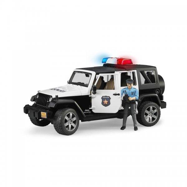 Bruder Jeep Wrangler Unlimited Rubicon Polizeifahrzeug & Polizist