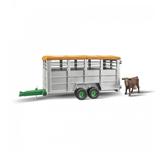 Bruder Viehtransportanhänger mit Kuh
