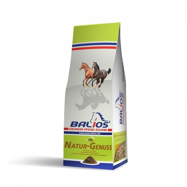 Balios Natur-Genuss Strukturfutter für Pferde, 15 kg