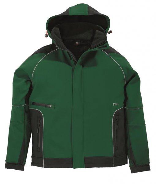 FHB Softshell-Jacke Walter, grün-schwarz