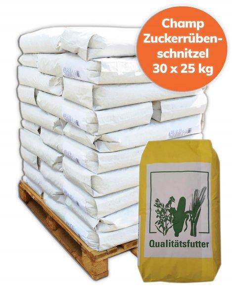 Palette Trockenschnitzel / Zuckerrübenschnitzel 750 kg, 30x 25 kg