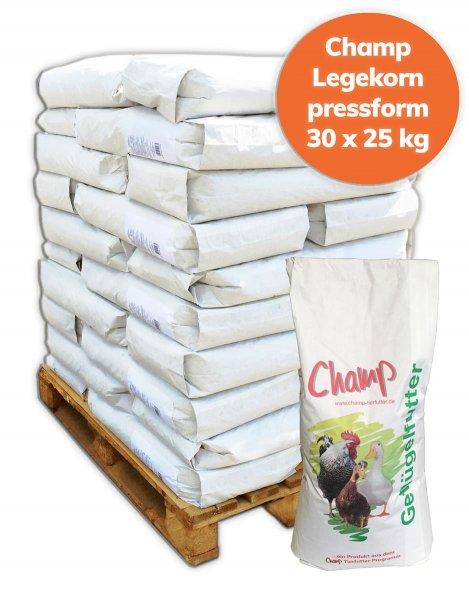 Palette Champ Legekorn für Geflügel 750 kg, 30x 25 kg