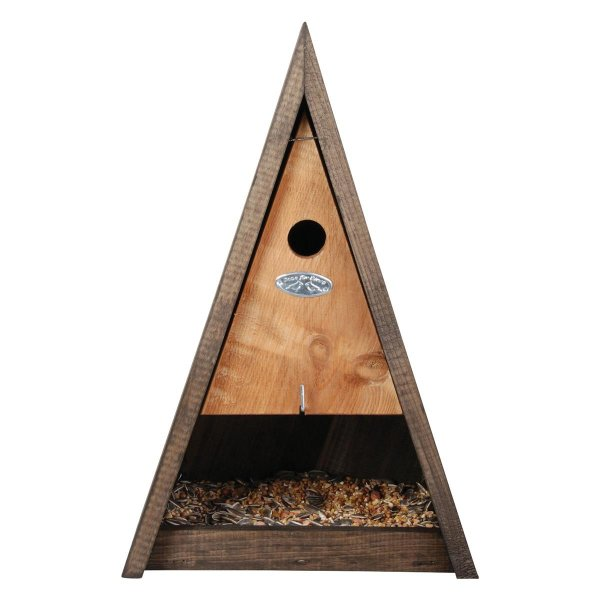 GardenLife Wigwam Futter-Nistkasten Kombi, 25,8x 18x 39,5 cm