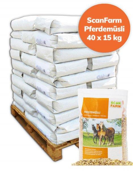 Palette ScanFarm® Pferdemüsli 600 kg, 40x 15 kg