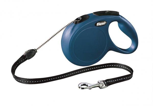 Trixie Flexi New Classic, Seil, Größe M, 8 m, blau