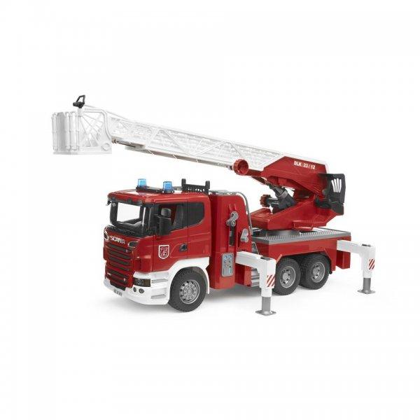 Bruder Scania R-Serie Feuerwehrleiterwagen, Wasserpumpe, und Light & Sound Module