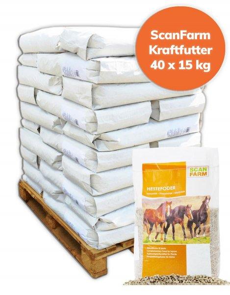 Palette ScanFarm® Kraftfutter Pferde 600 kg, 40x 15 kg