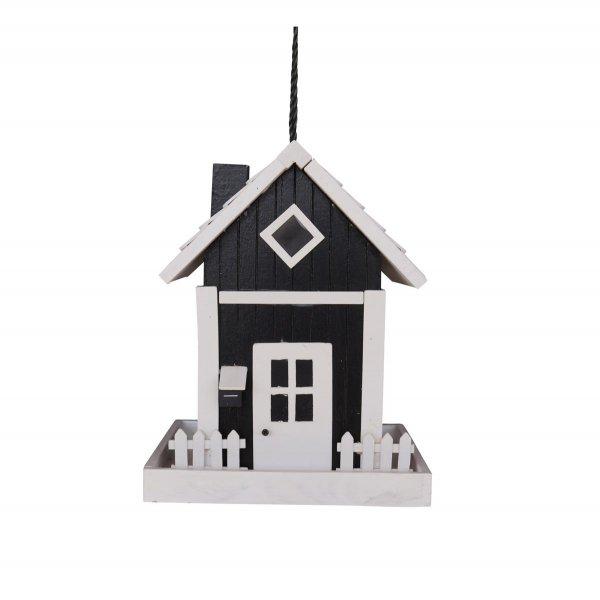 GardenLife Futterautomat Skagen, 17,5x 17,5x 22,6 cm, schwarz