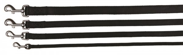 Trixie Premium Leine, Größe L-XL, 1,00 m, 25 mm, schwarz