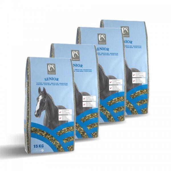 Equsana Senior Vollwertfutter für Pferde im Sparpack,4x 15 kg