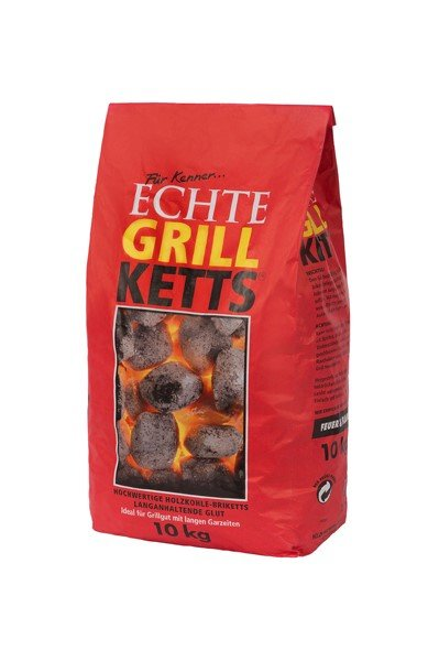 """GrillKetts """"Feuer & Flamme"""" Holzkohle Briketts zum Grillen, 10 kg"""