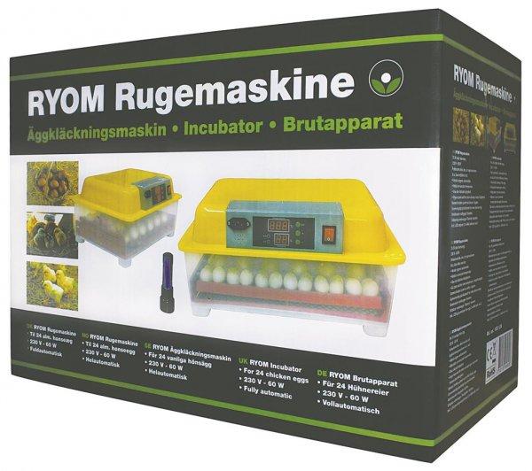 Ryom Brutmaschine mit Selbstdreher für 24 Eier