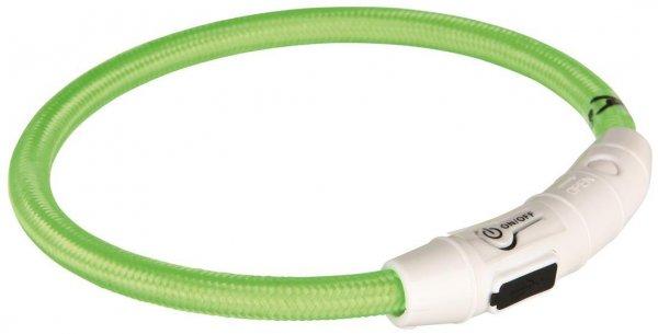 Trixie Flash Leuchtring USB, XS-S, 35 cm, grün
