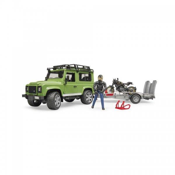 Bruder Land Rover Defender Station Wagon mit Anhänger
