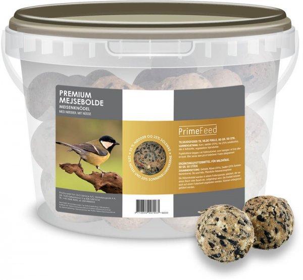 Prime Feed Premium Meisenknödel ohne Netz, 50x 80 g