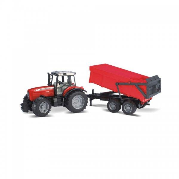 Bruder Massey Ferguson Traktor 7480 mit Wannenkippanhänger