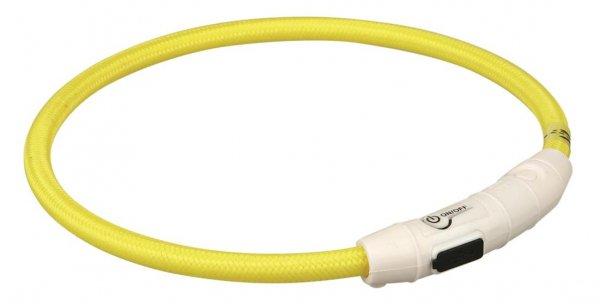 Trixie Flash Leuchtring USB, M-L, 45 cm, gelb
