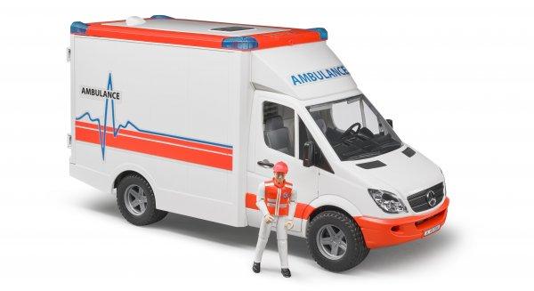Bruder Mercedes Benz Ambulanz Sprinter mit Fahrer