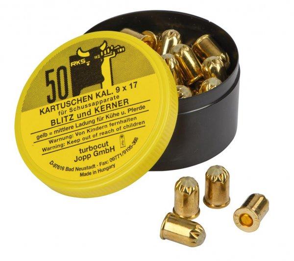 Kerbl Patronen gelb für Schussapparat, 50 Stück