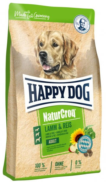 Happy Dog NaturCroq Lamm & Reis, 15 kg