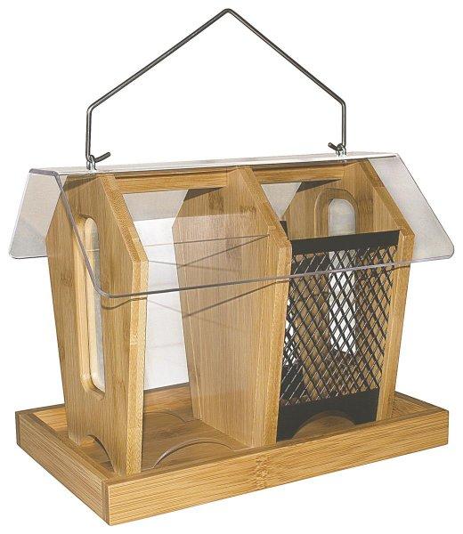 Futterhaus aus Bambus für Wildvögel