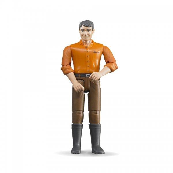 Bruder Mann mit hellem Hauttyp orange