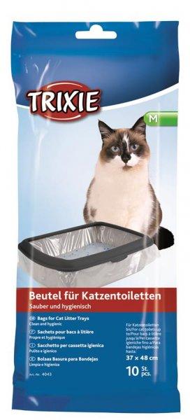 Trixie Katzentoilettenbeutel, Größe M, bis 37 × 48 cm, 10 Stück