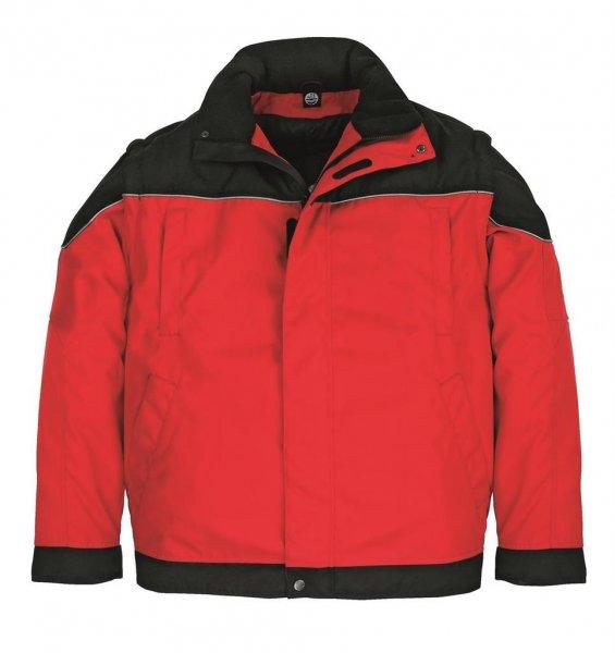 FHB Arbeitsjacke Tom, rot-schwarz
