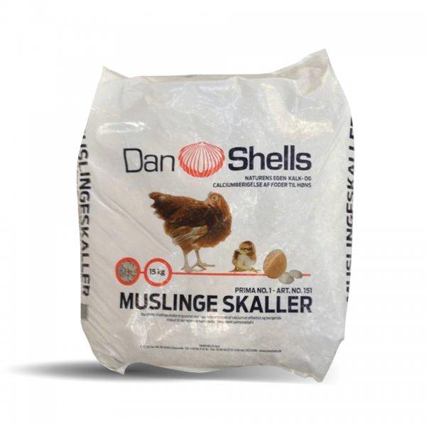 Muschelkalk Grit für Hühner gesackt, 25 kg