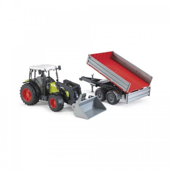 Bruder Claas Traktor Nectis 267 F mit Frontlader und Bordwandanhänger
