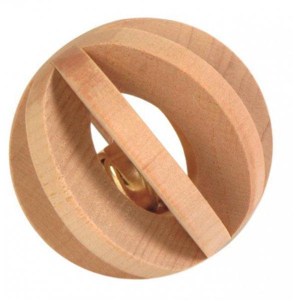 Trixie Lamellenholzball mit Schelle, 6 cm