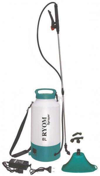 Ryom Elektrospritze mit Batterie und Zubehör, 8 l
