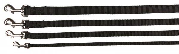 Trixie Premium Leine, Größe M-L, 1,00 m, 20 mm, schwarz