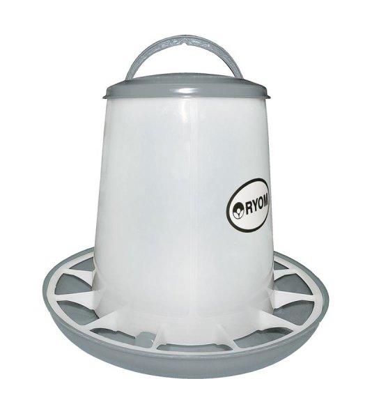 Ryom Geflügel Futterturm mit Deckel, 3 kg