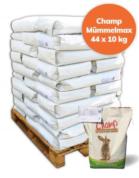 Palette Champ getreidefreies Kaninchenfutter Mümmelmax mit Clino Plus 440 kg, 44x 10 kg