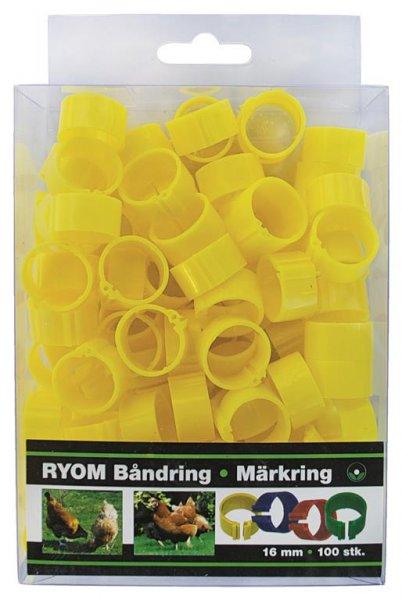 Ryom Bandringe Kunststoff gelb 16 mm, 100 St.