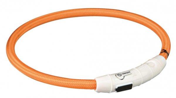Trixie Flash Leuchtring USB, M-L, 45 cm, orange